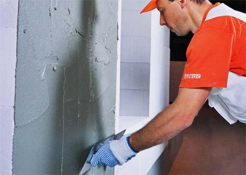 Оштукатуривание стен ротбандом